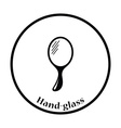 Hand-glass icon vector image
