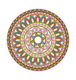 mandala decorative round lace style vintage vector image