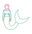 mermaid with picked hairstyle vector image