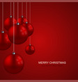 modern christmas balls creative background vector image