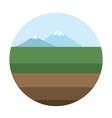Mountain background vector image
