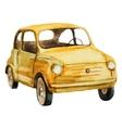 Nice watercolor retro car vector image