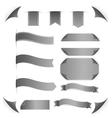Ribbons set isolated on white background vector image