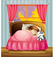 Sleeping girl vector image