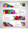 Leaflets with colored circles vector image