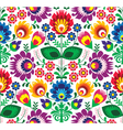 Seamless traditional floral polish pattern vector image