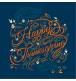 happy thanksgiving autumn  leaves background vector image