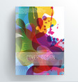 book cover design template with abstract colorful vector image