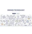 Drones Technology Doodle Concept vector image