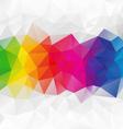 horizontal strip rainbow spectrum polygon vector image