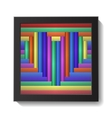 Abstract Colorful Heart in Frame vector image