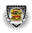 doubleburger shield vector image