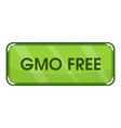 gmo free icon cartoon style vector image