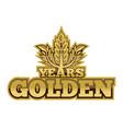 golden years vector image