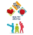 weight lifting healthy lifestyle design vector image