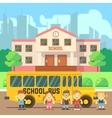 School building flat concept vector image