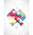 Square and triangle pattern background vector image vector image