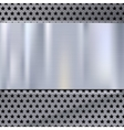 Metal plate over grate texture stainless steel vector image