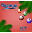 Billiard balls on Christmas tree branch vector image