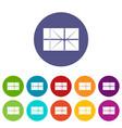 mailbox icons set flat vector image