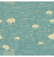 Seamless city pattern sketch vector image