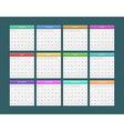Calendar for 2014 vector image