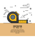 construction tools infographic vector image
