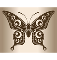 Monochrome butterfly vector image vector image