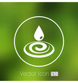 water drop rain droplet icon fluid clean design vector image
