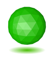 Abstract green low polygonal sphere vector image