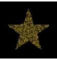 Golden magic star vector image