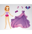 Paper Princess In Purple Dress vector image