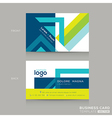 Abstract Business cards Design Template vector image