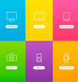 Banners with Devices Icons vector image