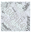 Effect of Termite Damage Word Cloud Concept vector image