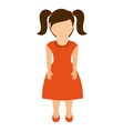 little girl isolated icon design vector image