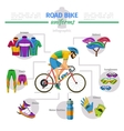 Road bike uniforms infographic vector image