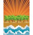 Sunset island vector image