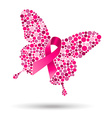 Breast cancer butterfly for support vector image vector image