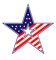 American star sign vector image