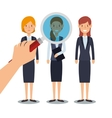 Recruitment human resources icon vector image