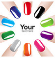 fashion colours nails vector image