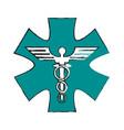 Medicine sign vector image