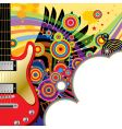 background with a red guitar vector image