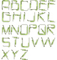 detailed tech alphabet vector image
