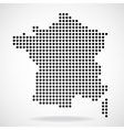 Abstract map of France from round dots vector image