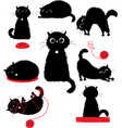 Black kitty playing vector image