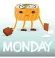 Frustrated comic cartoon sushi vector image