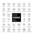 line icons set cinema vector image