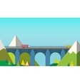 Mountain bridge landscape vector image